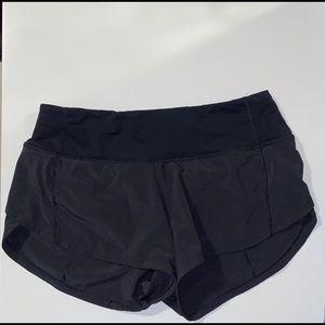 Women lululemon speed up shorts